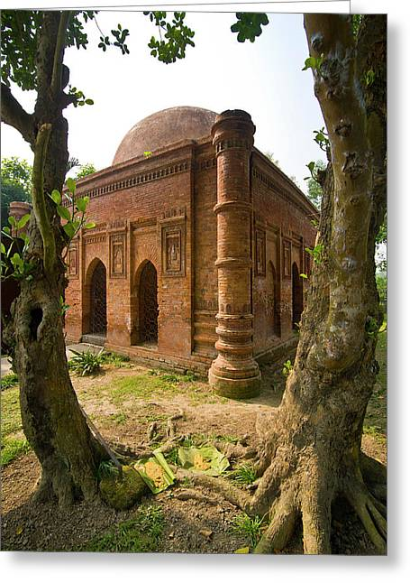 Old Mosque In Soneragon, Bangladesh Greeting Card by Michael Runkel