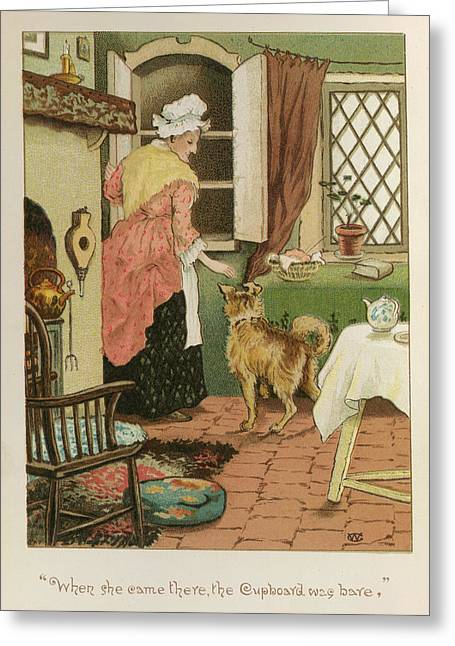 Old Mother Hubbard Greeting Card by British Library