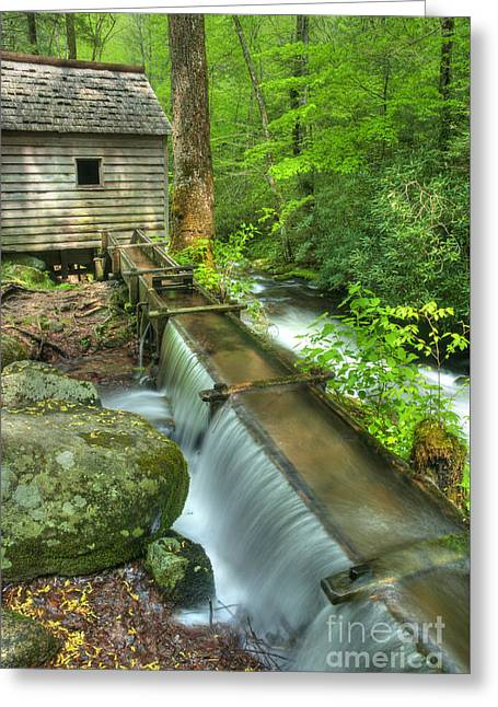 Old Mountain Mill Greeting Card by Paul W Faust -  Impressions of Light