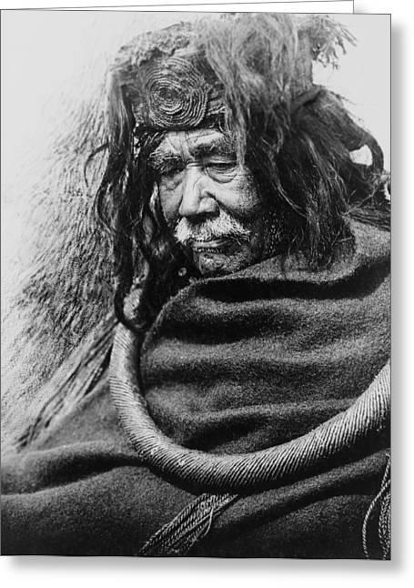 Old Nakoaktok Man Greeting Card