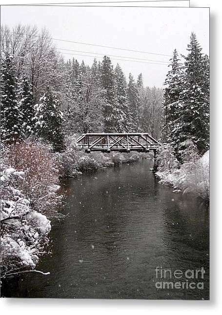 Old Nason Creek Bridge Greeting Card