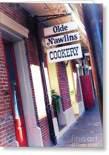 Greeting Card featuring the photograph Old Nawlins by Erika Weber