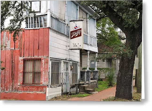 Old Neighborhood Bar Greeting Card