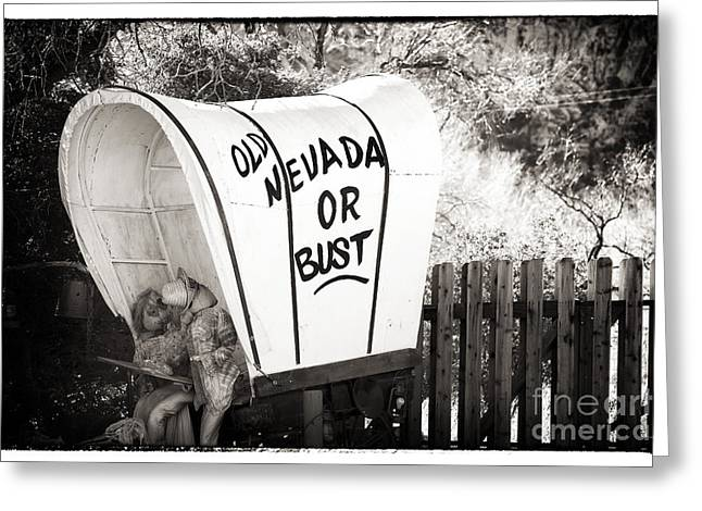 Old Nevada Or Bust Greeting Card