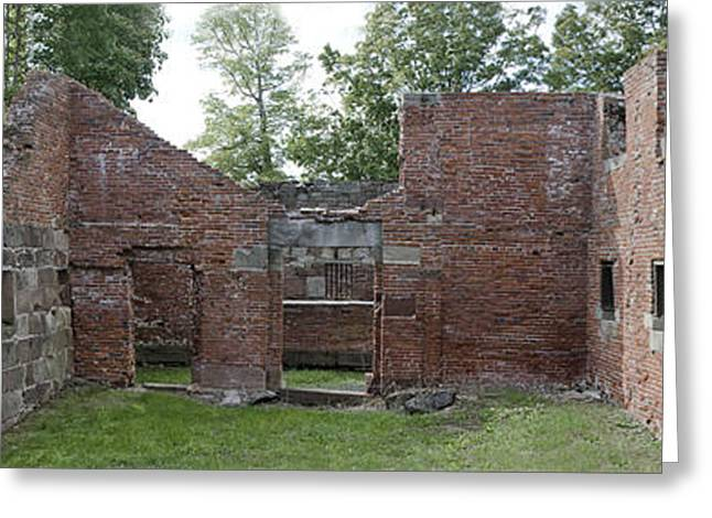 Old Newgate Prison Panorama - East Granby Connecticut Greeting Card by Brendan Reals