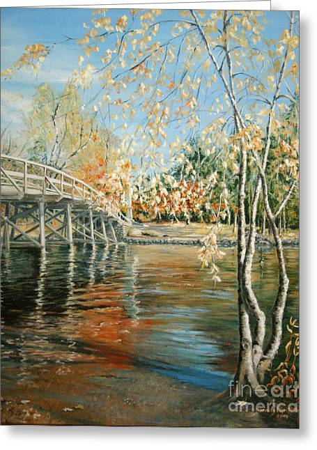Old North Bridge Concord Greeting Card by Wendy Griffiths