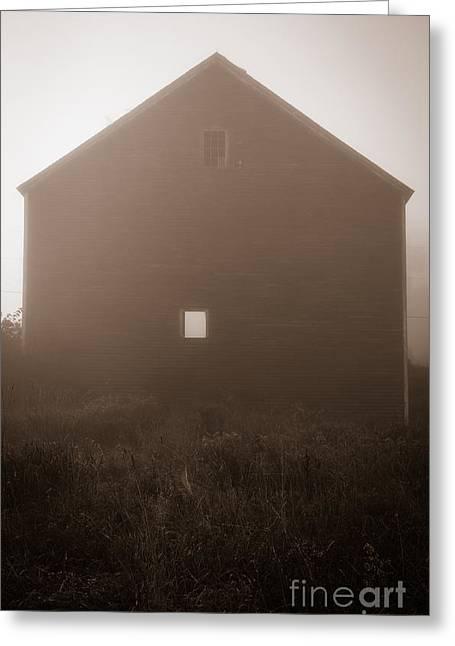 Old Nutt Barn In The Fog Greeting Card