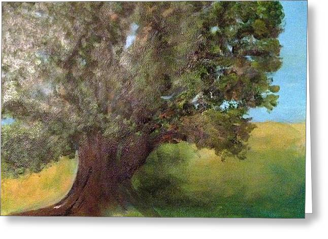Old Oak Greeting Card by Andrea Friedell