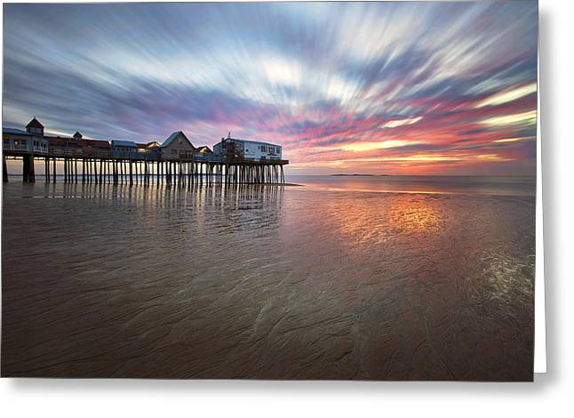 Old Orchard Daybreak Greeting Card by Eric Gendron