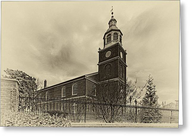 Old Otterbein Church Olde Tyme Photo Greeting Card by Bill Swartwout