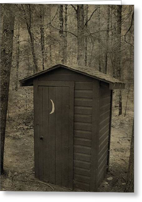 Old Outhouse Out Back Greeting Card by Dan Sproul