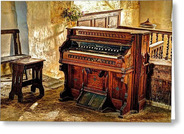 Old Packard Organ Greeting Card