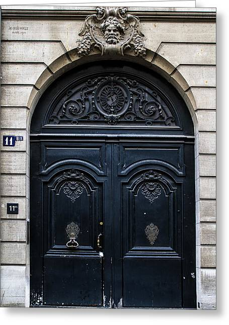 Old Parisian Door Greeting Card