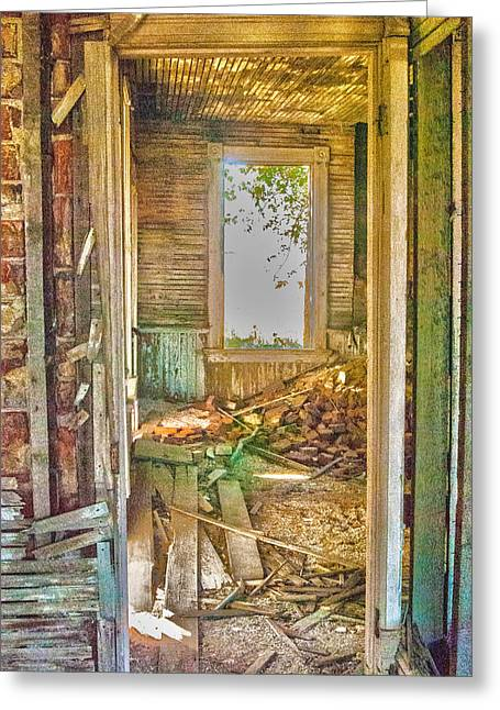 Old Pastel House Greeting Card by Kimberleigh Ladd