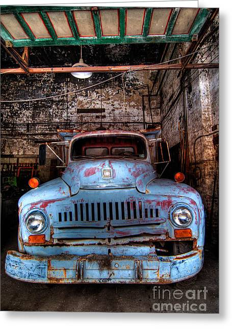 Old Pickup Truck Hdr Greeting Card