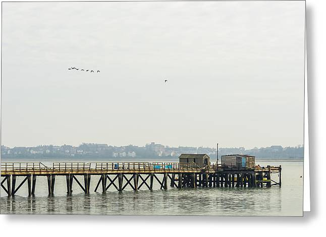 Old Pier Greeting Card by Svetlana Sewell