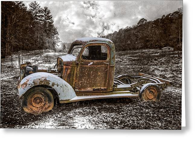 Old Plymouth Greeting Card by Debra and Dave Vanderlaan