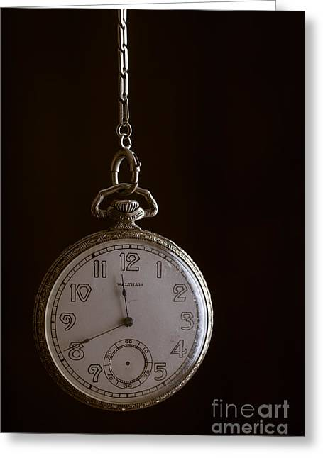 Old Pocket Watch Greeting Card by Edward Fielding