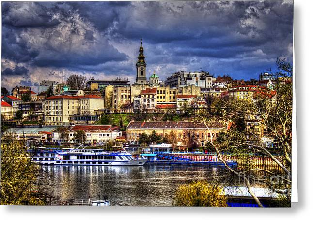 Old Port Belgrade Greeting Card