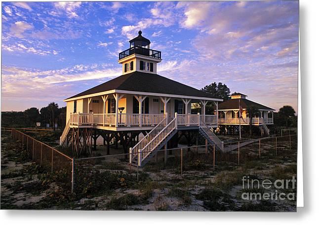 Old Port Boca Grande Lighthouse - Fs000191 Greeting Card by Daniel Dempster