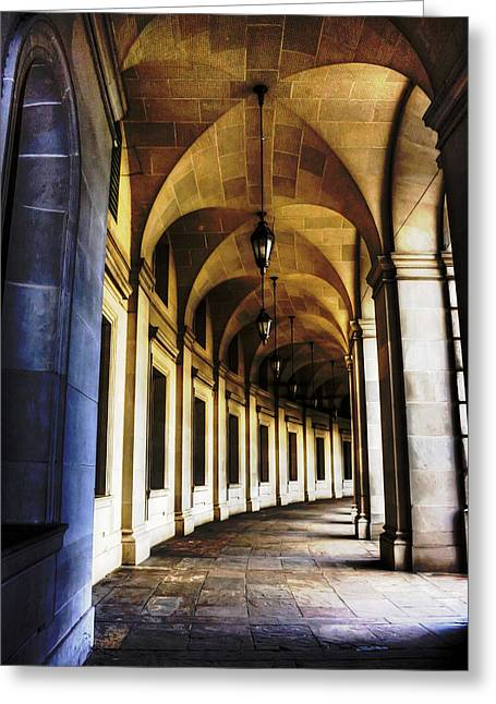 Old Post Office Archway Greeting Card by Regina  Williams