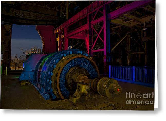 Old Power Plant Greeting Card by Keith Kapple