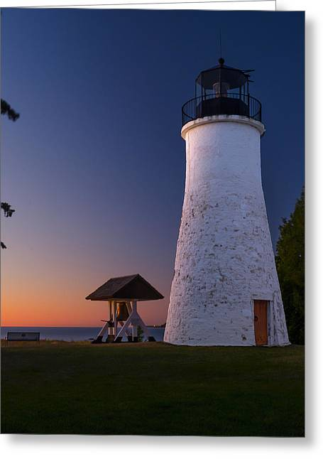 Old Presque Isle Lighthouse Greeting Card by Thomas Pettengill