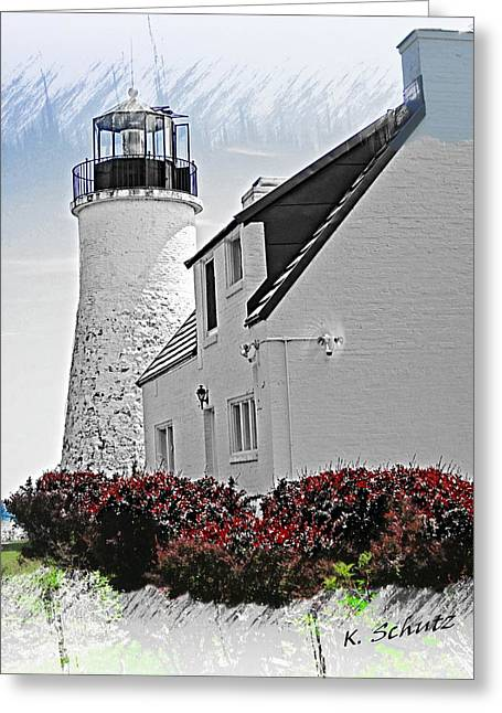 Old Presque Lighthouse Greeting Card