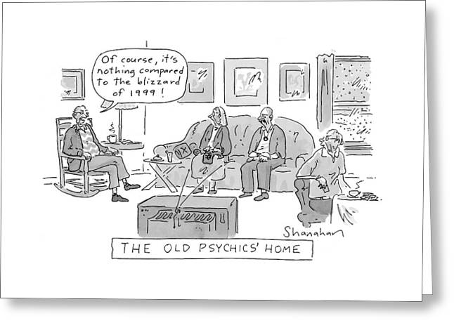 Old Psychics' Home Greeting Card