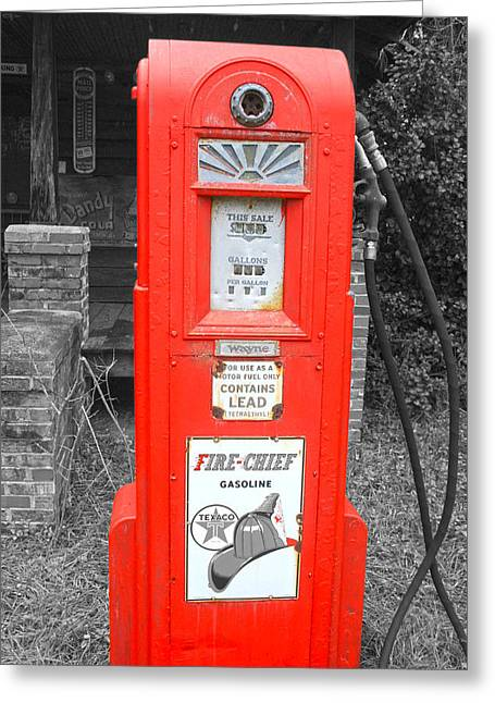 Old Pump  Greeting Card by Steven  Taylor