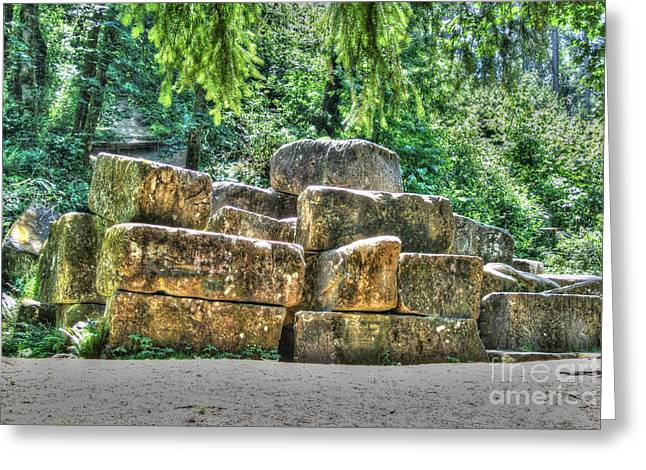 Old Quarry Stones Greeting Card