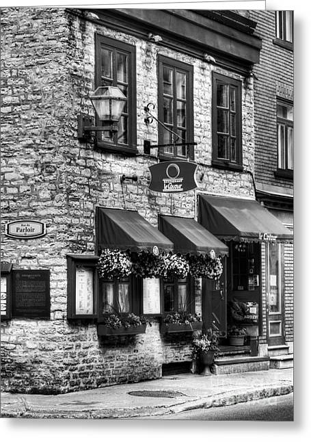 Old Quebec City 16 Bw Greeting Card