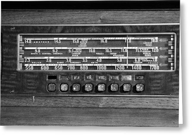 Old Radio Change The Station Greeting Card by Dan Sproul