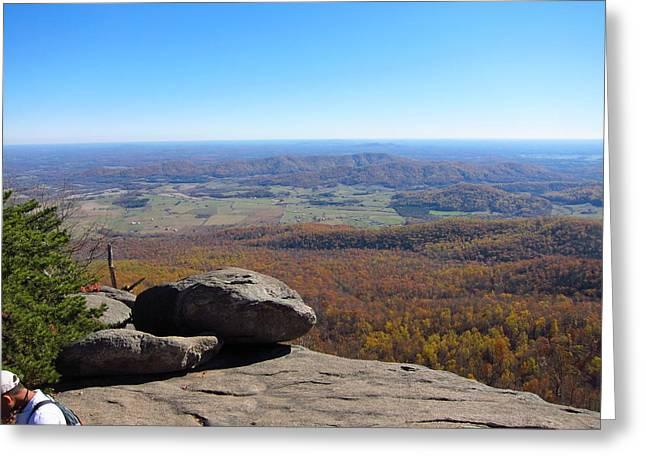 Old Rag Hiking Trail - 121227 Greeting Card by DC Photographer
