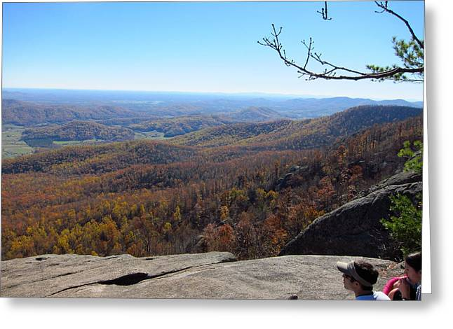 Old Rag Hiking Trail - 121228 Greeting Card by DC Photographer