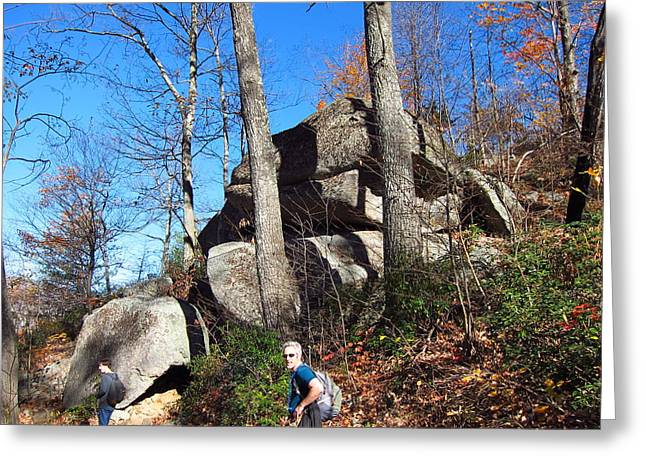 Old Rag Hiking Trail - 12129 Greeting Card by DC Photographer