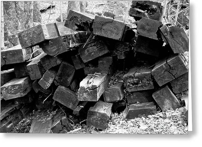Greeting Card featuring the photograph Old Railroad Ties by Kristen Fox