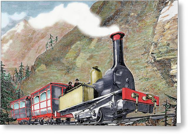 Old Railway, Usa Greeting Card