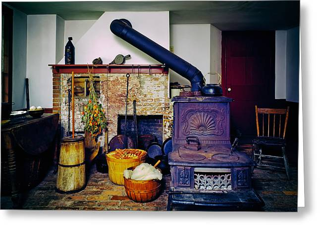 Old Ranch House Interior Greeting Card