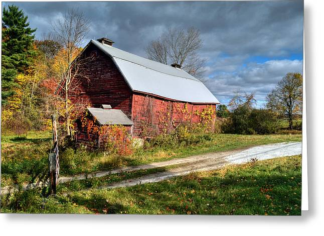 Old Red Barn - Berkshire County Greeting Card