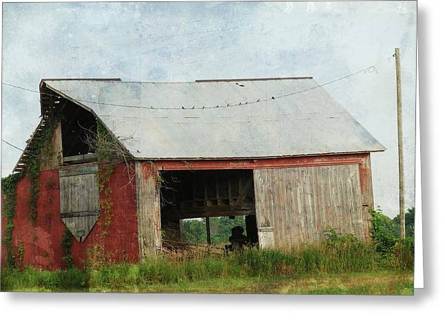 Old Red Barn Greeting Card by Cassie Peters