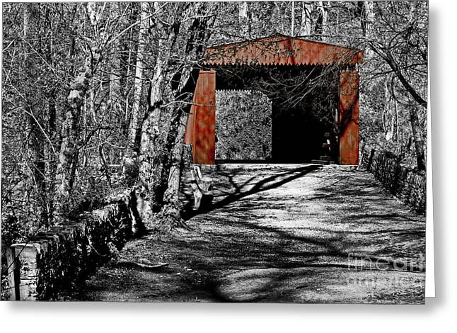Old Red Bridge Greeting Card