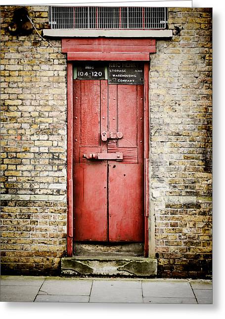 Old Red Door Greeting Card by Heather Applegate