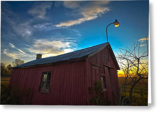 Old Red Greeting Card by Jason Naudi Photography