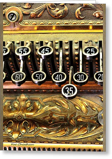Old Register Keys Greeting Card by Kae Cheatham