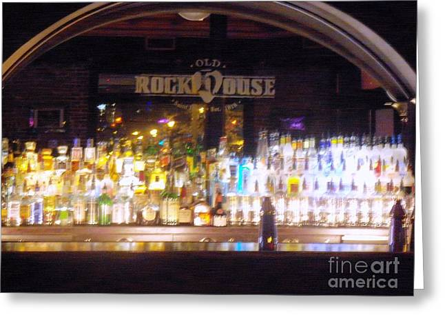 Greeting Card featuring the photograph Old Rock House Bar by Kelly Awad