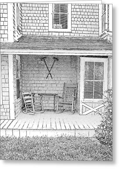 Old Rocking Chairs Greeting Card