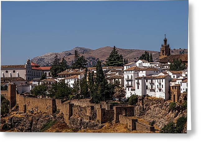 Old Ronda Panoramic. Andalusia. Spain Greeting Card by Jenny Rainbow