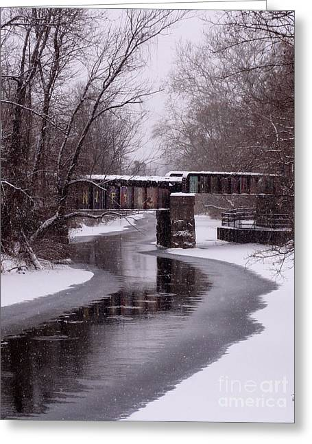 The Nifti Railroad Bridge Greeting Card