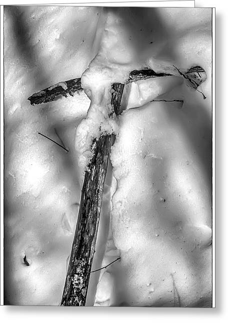 Old Rugged Cross Greeting Card by John Haldane